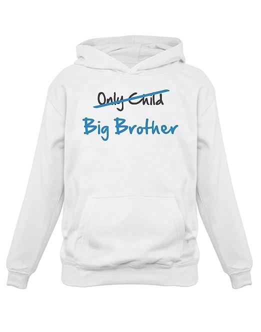 Sudadera con Capucha para niños - Only Child to Big Brother - Regalo para Futuro Hermano Mayor: Amazon.es: Ropa y accesorios