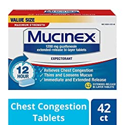 Chest Congestion, Mucinex Maximum Streng...