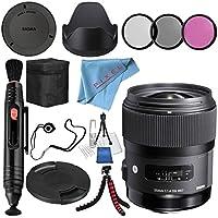 Sigma 35mm f/1.4 DG HSM Art Lens for Sony DSLR Cameras # 340205 + 67mm 3 Piece Filter Kit + Lens Pen Cleaner + Fibercloth + Lens Capkeeper + Deluxe Cleaning Kit + Flexible Tripod Bundle