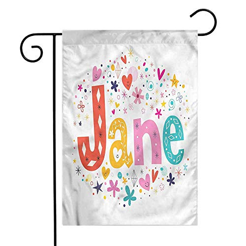 funkky Jane Garden Flag Cartoon Festive Design Premium Material 12