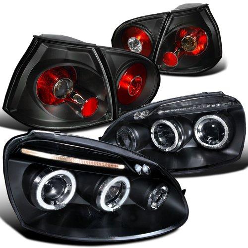 Rabbit Black Projector Headlights Brake