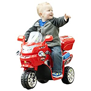Lil' Rider 3 Wheel Battery Powered FX Sport Bike - Red Ride On