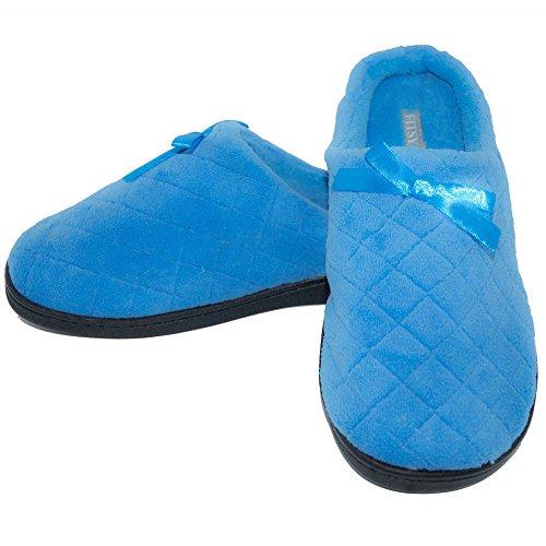 Fitsy Mujeres Warm Comfortable Cuty Tpr Sole Interior Exterior Antideslizante Casa Zapatillas Azul