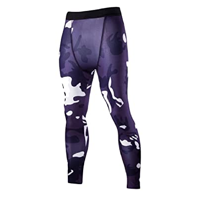 Zimaes-Men Gym Breathable Bodycon Camouflage Quick Dry Activewear Pants