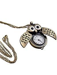 Rosepoem Owl pocket Watch Vintage Retro Owl Pendant Steampunk Pocket Watch Long Chain Pendant Pocket Watch Antique Owl Shape Pocket Watch Unisex