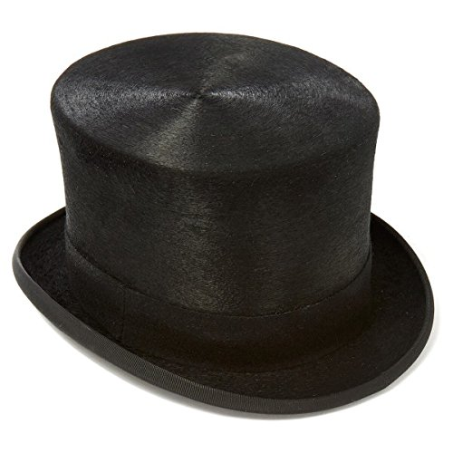 Express Hats Quality Wool Felt Top Hat 5 inch Crown Height (Satin Lined) (Medium - (Wool Top Hat)