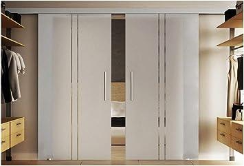 Cristal puertas correderas Interior 2 x 90 x 205 cm en leche de ...