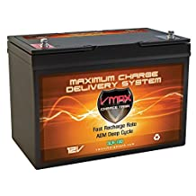 VMAX SLR100 12V 100ah Deep Cycle Battery for RV Off Grid Solar panel