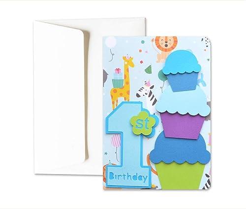 Mi primer cumpleaños - niño - tarjeta de felicitación y ...