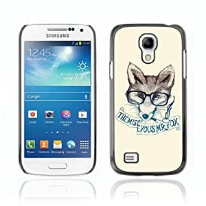 Designer Depo Hard Protection Case for Samsung Galaxy S4 Mini / Clever & Stylish Hipster Fox wangjiang maoyi