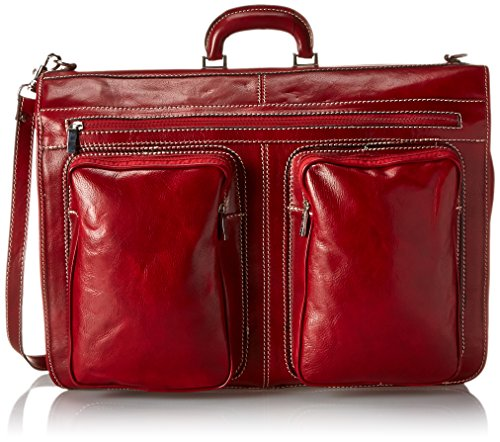 Floto Luggage Venezia Garment Bag, Tuscan Red, Large by Floto