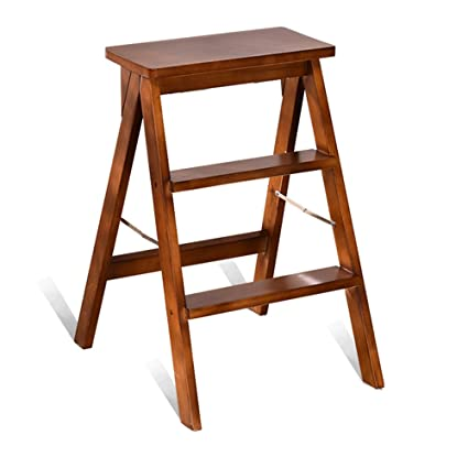 Amazon.com: DYFYMX Ladder Chair, Folding Kitchen Steps ...