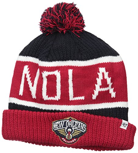NBA New Orleans Pelicans Calgary Cuff Knit Hat, One Size, Navy - University New Orleans Basketball
