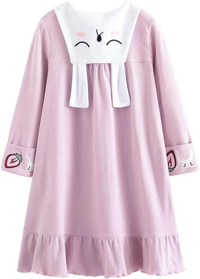 Allmeingeld Conejo Camisones para niña algodón Pijamas y Batas Manga Corta para 3-10 años: Amazon.es: Ropa y accesorios