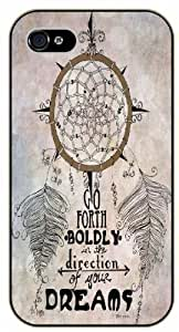 Dreamcatcher - Go forth boldly in the right directio of your dreams - iphone 6 4.7 black plastic case / Life and dreamer's quotes