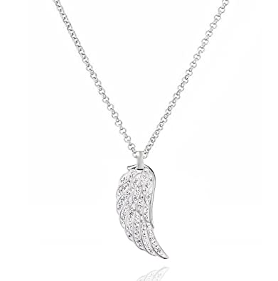 NEW Beautiful Crystal Set Angel /'Believe/' Necklace UK Seller 2 Colours