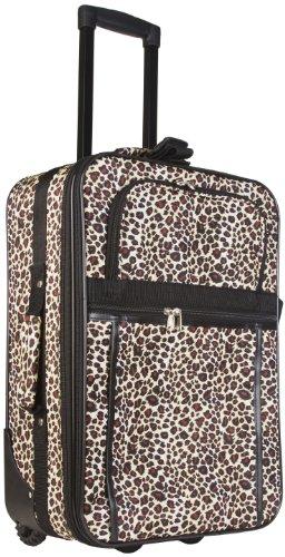 Black Trim Leopard Boarding Case Luggage, Bags Central