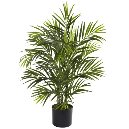 - Nearly Natural 5387 Areca Palm UV Resistant Tree, 2.5-Feet, Green