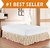 Cream King Size Bed Elegant Comfort Luxurious Premium Quality 1500 Thread Count Wrinkle and Fade Resistant Egyptian Quality Microfiber Multi-Ruffle Bed Skirt - 15inch Drop, King, Cream