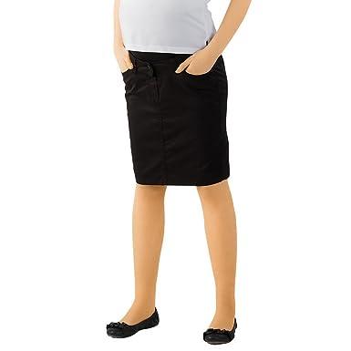 Christoff - Falda premamá para Mujer, Talla 44, Color Negro ...