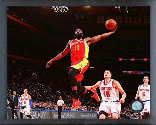 James Harden Houston Rockets NBAアクション写真(サイズ: 17 cm x 21 cm )フレーム   B0175BQUZ0