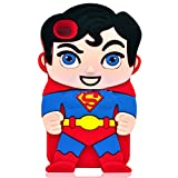 iTitan Original Red and Blue Superman Design {Super Hero Series} Soft and Smooth Silicone Cute 3D Fitted Bumper Gel Case for iPod 4 (4G) 4th Generation iTouch by Apple 'Durable and Slim Flexible Fashion Cover with Amazing and Creative Cartoon Design'
