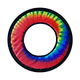 Tie Dye Fabric Frisbee Flying Ring 10''