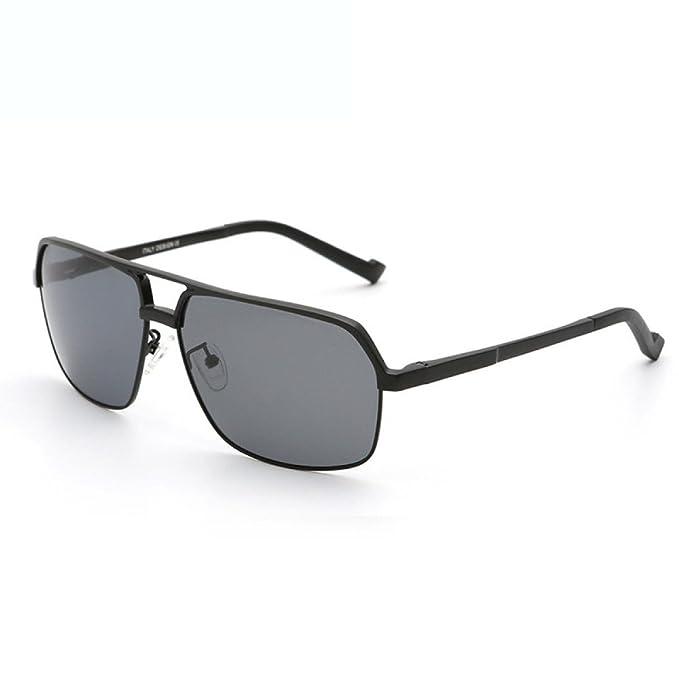 Hombres De Magnesio Y Aluminio Gafas De Sol Deportivas Conductor Polarizado, Grey-OneSize: Amazon.es: Ropa y accesorios