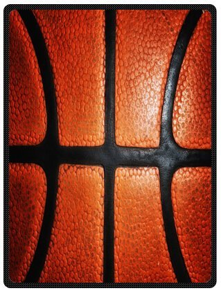 Basketball Super Soft Plush Queen Size Blanket 58