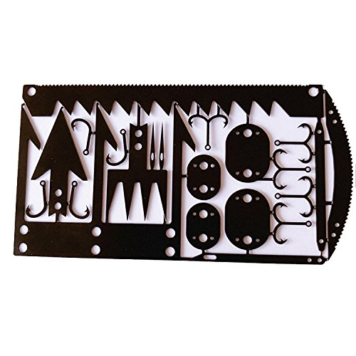 22 in 1 Credit Card Survival Tool - Great for Survival Kit/Gear, Camping Gear, Hiking, Fishing Gear, Survival Emergency Kit or - Credit Kit Tool Card