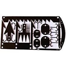22 in 1 Credit Card Survival Tool - Great for Survival Kit/Gear, Camping Gear, Hiking, Fishing Gear, Survival Emergency Kit or Zombies