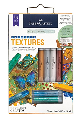 Faber-Castell Metallic Texture Kit - Mixed Media Paper Crafting Kit
