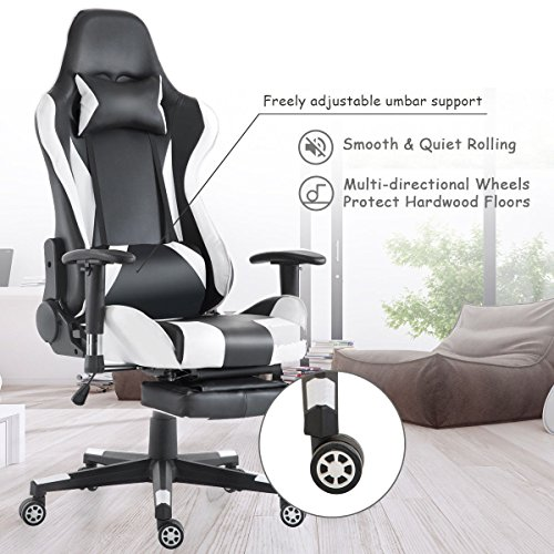 Pleasant Giantex Gaming Chair Race High Back Racing Style Reclining Ocoug Best Dining Table And Chair Ideas Images Ocougorg