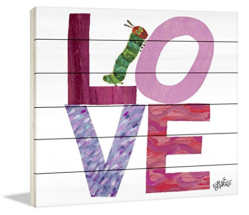 Eric Carle 'Caterpillar Love' Painting Print on White Wood, 32'' X 32'' by Eric Carle (Image #2)