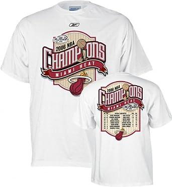 Amazon Com Miami Heat 2006 Nba Champions Roster T Shirt Medium Clothing