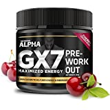 Alpha Gx7 Pre Workout Powder - Energy Drink for Workouts 265g - 30 Servings Cherry Flavor