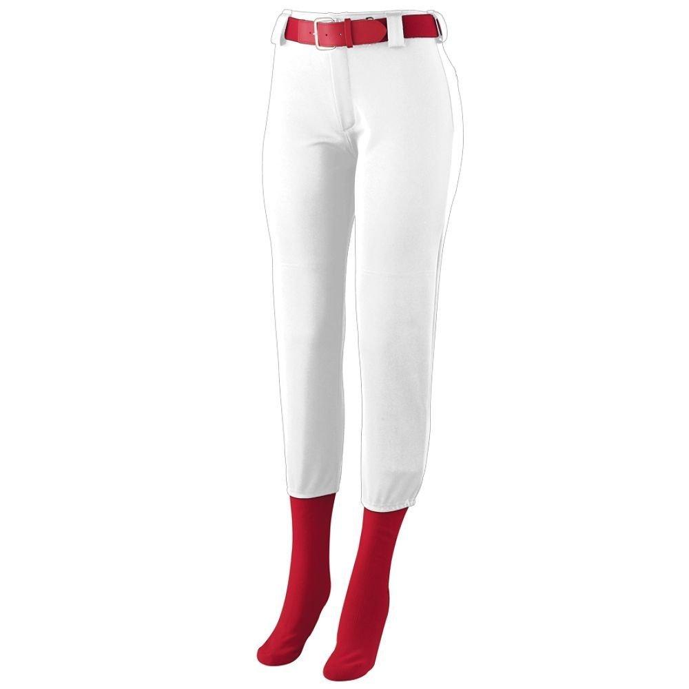 Augusta Sportswear Big Girl 's真鍮ジッパーフライパンツ B00GK5P8LK Medium|ホワイト ホワイト Medium