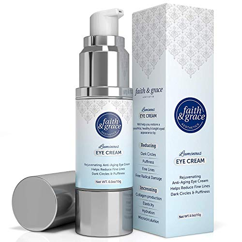 51p4fS4M6aL - Faith and Grace Anti Aging Eye Cream (MADE in USA) BEST for Improving Dark Circles, Fine Lines and Puffiness. Reduce Breakdown of Collagen, Soothe and Rejuvenate for a Healthy Youthful Appearance