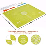 Silicone Baking Mats Pastry Mat - with Measurements BPA Free, Heat Resistant, Non Stick Pastry Board Rolling Dough Silicone Mat for Baking Bread Pizza Cookie Pie 9 PREMIUM QUALITY & FOOD SAFE: This silicone baking mats is made of FDA approved,100% food grade silicone, BPA free and no peculiar smell. Uomay baking mat can guaranty your food safe.Perfect cooking & baking accessories for any kitchen HEAT RESISTANCE & VERSATILITY MAT: This pastry mat Resists temperatures from -40°F to 450°F ,can be used in oven. Baking mats with measurements, scale in cm and inches. 15.7''*19.7''*0.05''Large Baking Mat Ideal for Kneading, Rolling, and Shaping Breads, cake, Pastry, Pie Crusts and fondants NON-STICK & EASY TO CLEAN: This non-stick baking mat will never tarnish, no more scrapping dough or fondant off the worktop when kneading or rolling on the mat.After your use,simply wash your pastry mat with warm soapy water or place in the dishwasher to clean