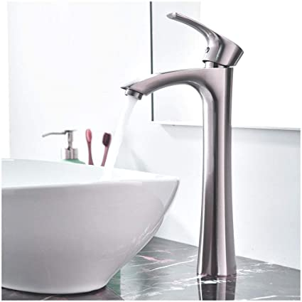 KINGO HOME Contemporary Single Handle Tall Vessel Sink Brushed ...