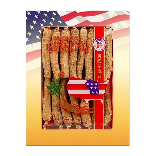 HSUs Ginseng SKU 0103-4 | Long Medium-Small | Cultivated Wisconsin American Ginseng Direct from Hsus Ginseng Gardens | 许氏花旗参 | 4oz Box of Wisconsin Ginseng Roots, B001EMGWOG