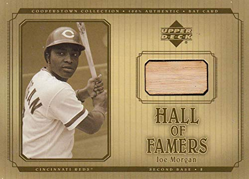 2001 Hall of Famers Game Bat #BJMO Joe Morgan DP NM Near Mint MEM from Hall of Famers