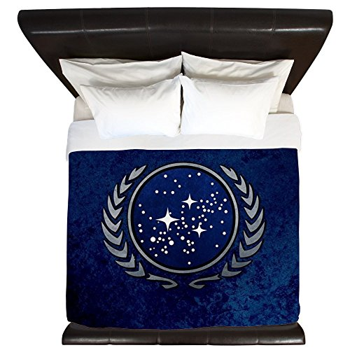 CafePress - STARTREK UFP STONE - King Duvet Cover, Printed Comforter Cover, Unique Bedding, Luxe