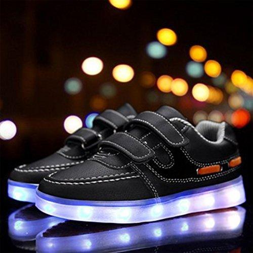 (Presente:pequeña toalla)JUNGLEST USB Carga de la Zapatilla Zapatillas de Deporte Con 7 Colores de Iluminación LED Intermitente Para los Amantes de N c26