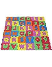 Knorrtoys 21004 - puzzelmat 86-delig – Speelmat voor kinderen, speelkleed, schuimstofmat, kleurrijk
