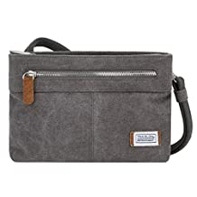 Travelon 33226 540 Anti-Theft Heritage Small Crossbody Bag, Pewter, One Size