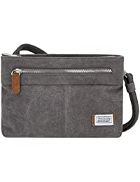 Women's Anti-Theft Heritage Small Crossbody Cross Body Bag, Pewter, One Size
