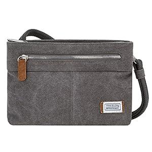 Travelon Women's Anti-Theft Heritage Small Crossbody Cross Body Bag, Pewter, One Size – 33226 540