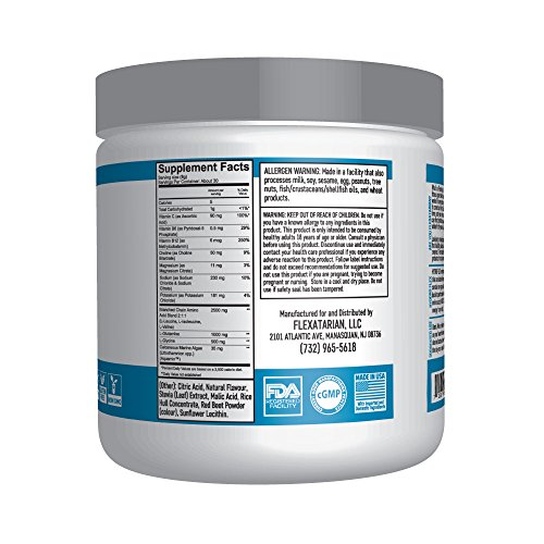 Flexatarian Hydro Flex, Natural Hydration Powder with BCAAs, Fruit Punch, 30 Servings by Flexatarian (Image #3)