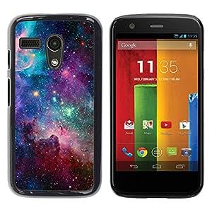 YOYOYO Smartphone Protección Defender Duro Negro Funda Imagen Diseño Carcasa Tapa Case Skin Cover Para Motorola Moto G 1 1ST Gen I X1032 - estrellas del cielo universo cosmos nebulosa del trullo